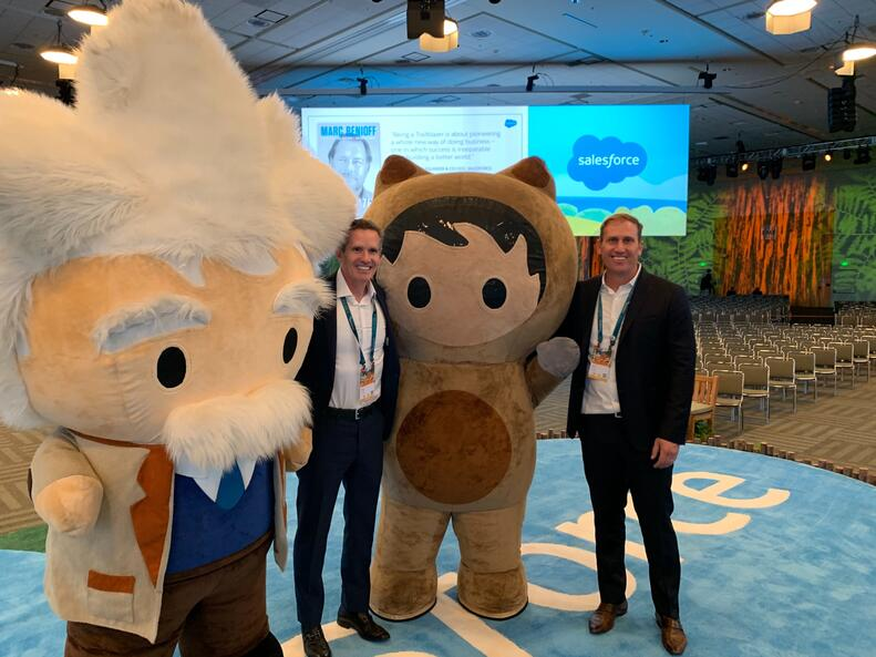 DocuSign CEO Dan Springer and SOO Scott Olrich at Dreamforce 2019